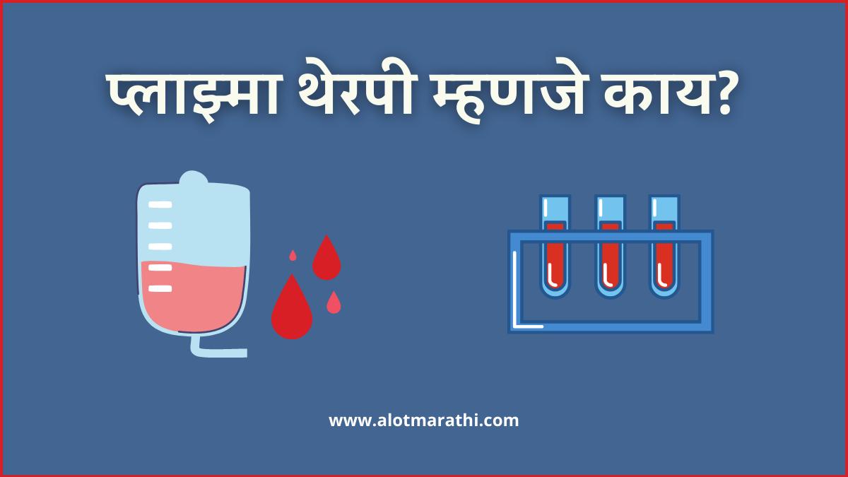 plasma information in Marathi, plasma therapy information in Marathi, plasma donation meaning in Marathi, प्लाझ्मा थेरपी म्हणजे काय